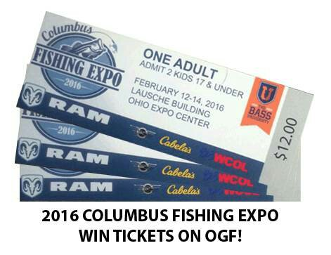 Win tickets to the 2016 columbus fishing expo ogf for Ohio fishing expo